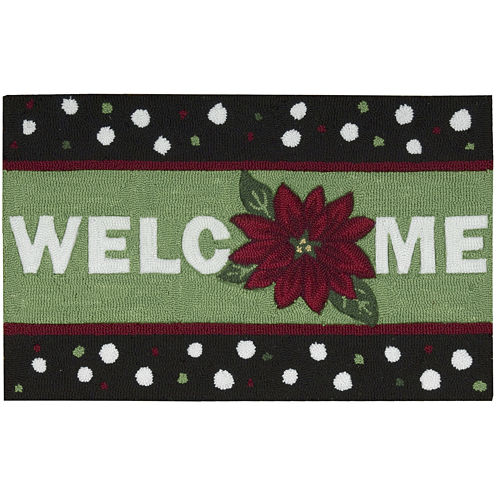 Nourison® Welcome Holiday Hand-Hooked Rectangular Rug