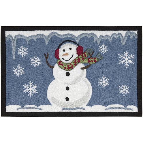 Nourison® Smiling Snowman Hand-Hooked Rectangular Rug