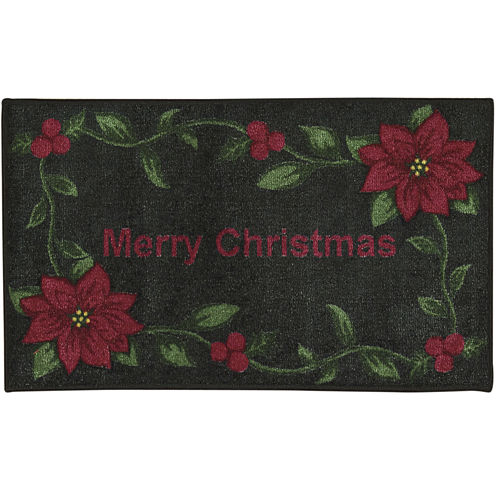 Nourison® Red Merry Christmas Rectangular Rug