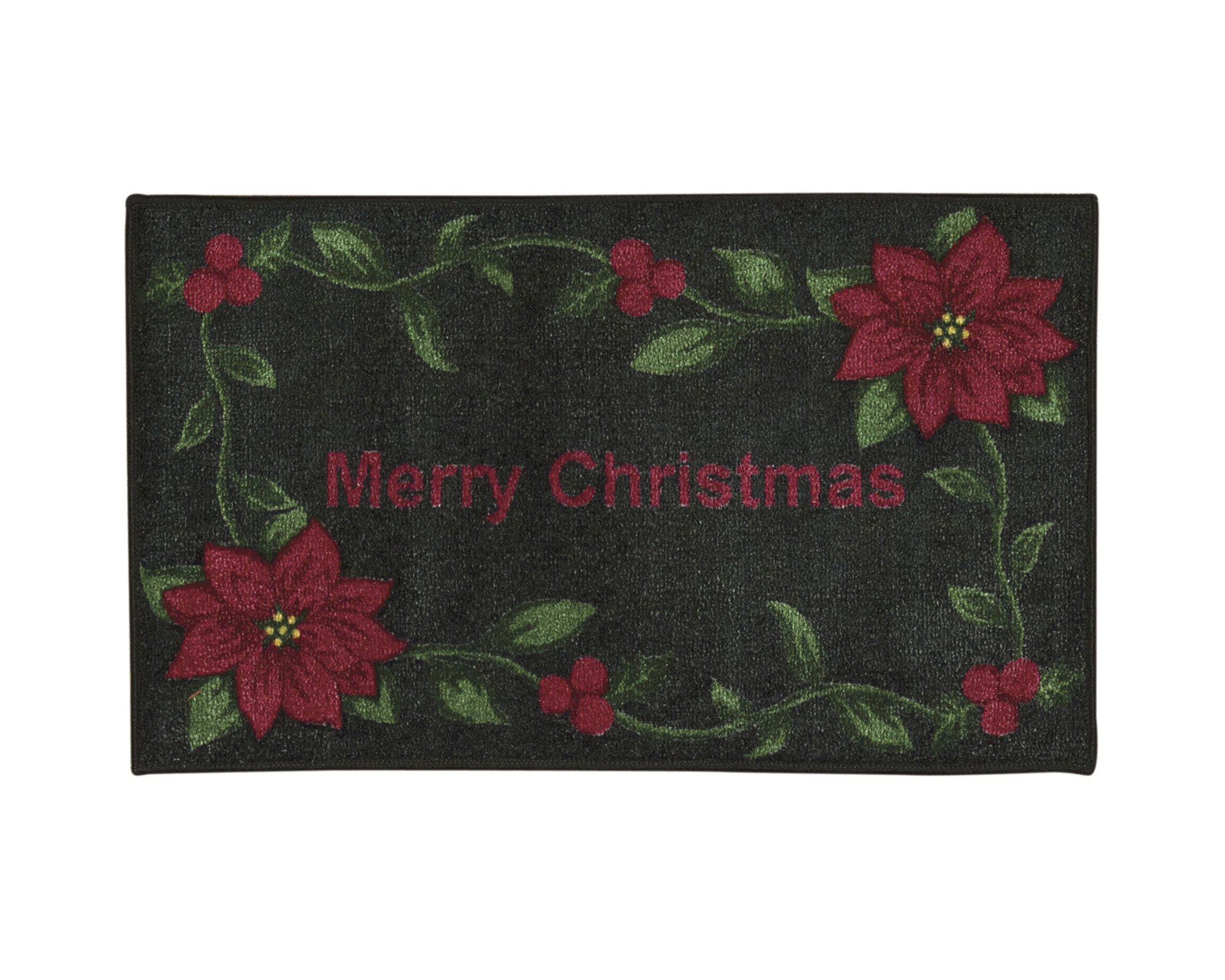 Nourison Red Merry Christmas Rectangular Rug