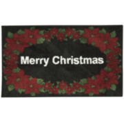 Nourison® White Merry Christmas Rectangular Rug
