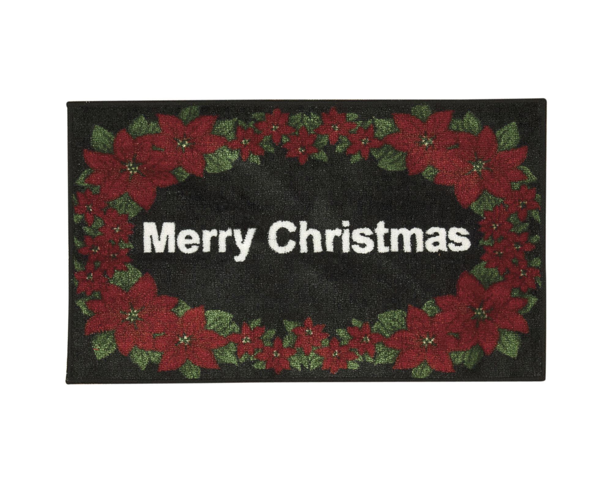 Nourison White Merry Christmas Rectangular Rug