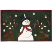 Nourison® Top Hat Snowman Rectangular Rug