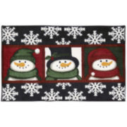 Nourison® Three Snowmen Rectangular Rug