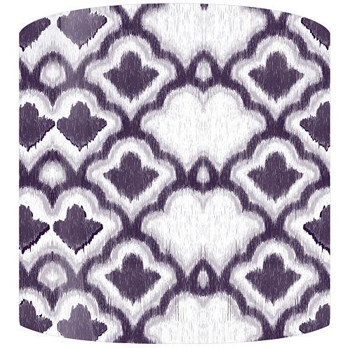 Purple Cloud Pattern Drum Lamp Shade