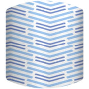 Blue Lines Long Drum Lamp Shade
