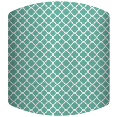 jcpenney.com | Teal Pattern Drum Lamp Shade