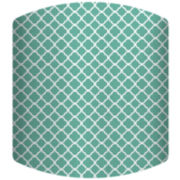 Teal Pattern Drum Lamp Shade