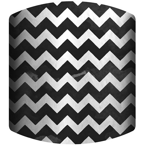 Black and White Chevron Drum Lamp Shade