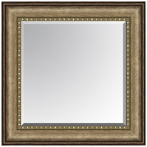 Leighton Bead Inset Beveled Wall Mirror