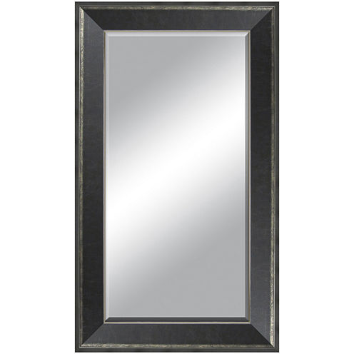 Lena Distressed Beveled Leaner Wall Mirror