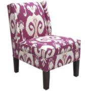 Diane Wingback Chair - Himalaya Raspberry