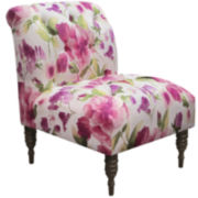 Smith Tufted Chair - Rosie Raspberry