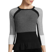 Worthington® Long-Sleeve Peplum Sweater - Tall