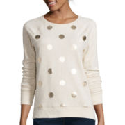 Stylus™ Long-Sleeve Raglan Dot Sweatshirt - Tall