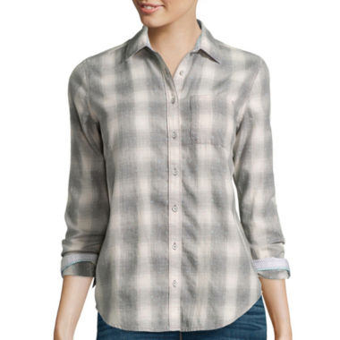 jcpenney.com | Stylus™ Long-Sleeve Brushed Twill Plaid Shirt