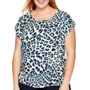 Stylus™ Short-Sleeve Woven T-Shirt - Plus