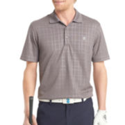 IZOD® Golf Short-Sleeve Textured Plaid Polo