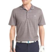 IZOD® Golf Short-Sleeve Textured Plaid Polo