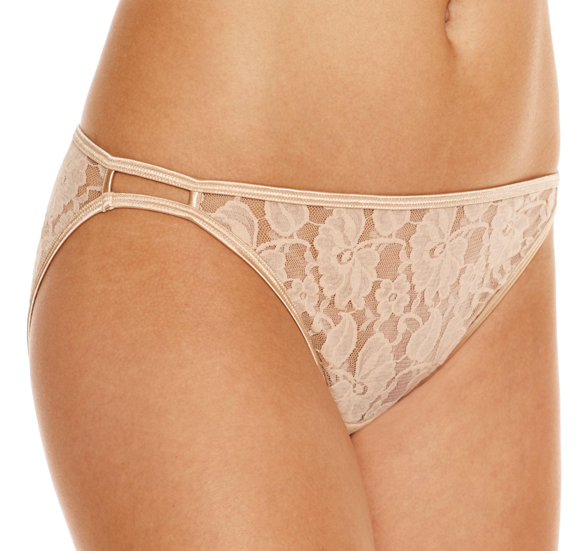 UPC 083623648644 Product Image For Vanity Fair Illumination Helenca Lace  Damask Neutral Bikini Size 5/