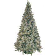 6.5' Pre-Lit Frosted Pine Christmas Tree