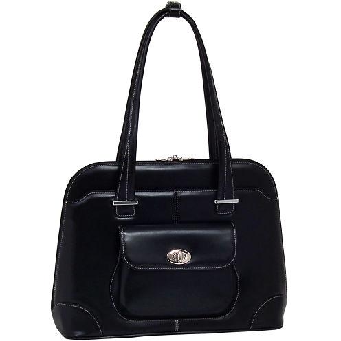 """McKleinUSA Avon 15.4"""" Leather Laptop Briefcase"""