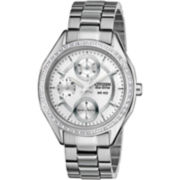 Drive from Citizen® Eco-Drive™ Womens Silver-Tone Round Watch FD1060-55A