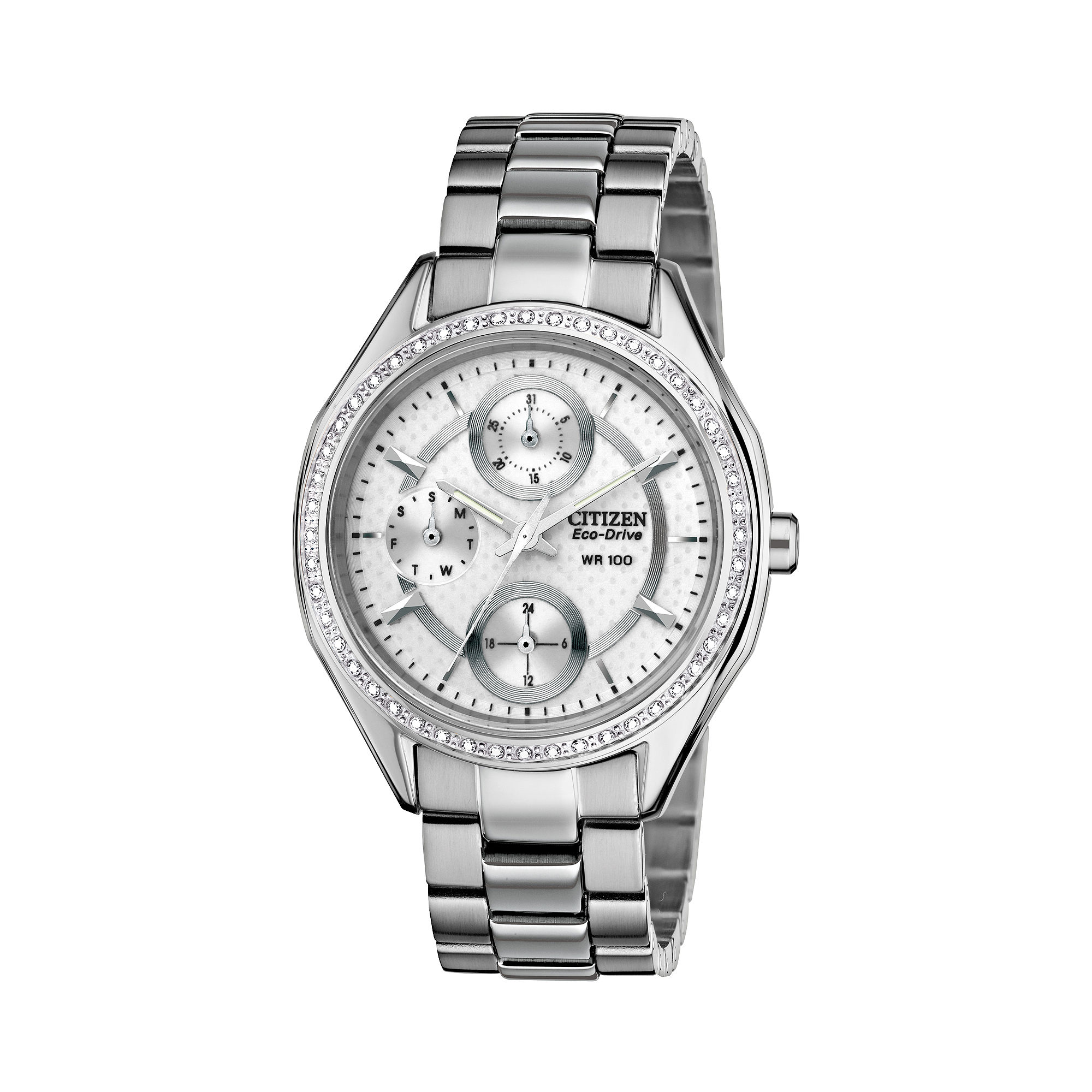 Drive from Citizen Eco-Drive Womens Silver-Tone Watch FD1060-55A