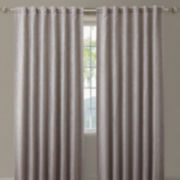 Zebra Back-Tab Blackout Curtain Panel