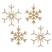 MarthaHoliday™ Into the Woods Set of 4 Jute Snowflake Christmas Ornaments