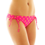 Arizona Polka Dot Adjustable Hipster Swim Bottoms
