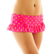 Arizona Polka Dot Retro Skirted Swim Bottoms - Juniors