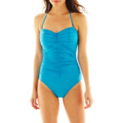 a.n.a® Shirred Bandeau 1-Piece Swimsuit
