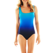 Robby Len by Longitude® Ombré Print 1-Piece Swimsuit with Double X-Back