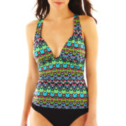 a.n.a® Macramé-Back Tribal Print Halterkini Pushup Swim Top