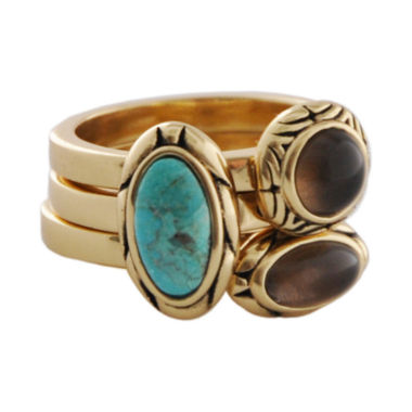 jcpenney.com | Art Smith by BARSE Turquoise & Smoky Quartz Stack Ring