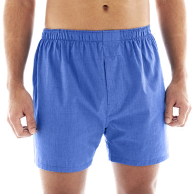 jcpenney.com | Stafford® 4-pk. Woven Cotton Boxers