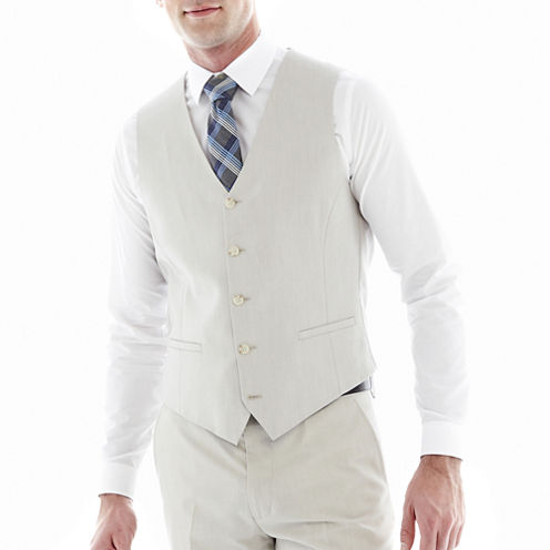 J.F. J Ferrar® Slim Fit Bone Suit Vest