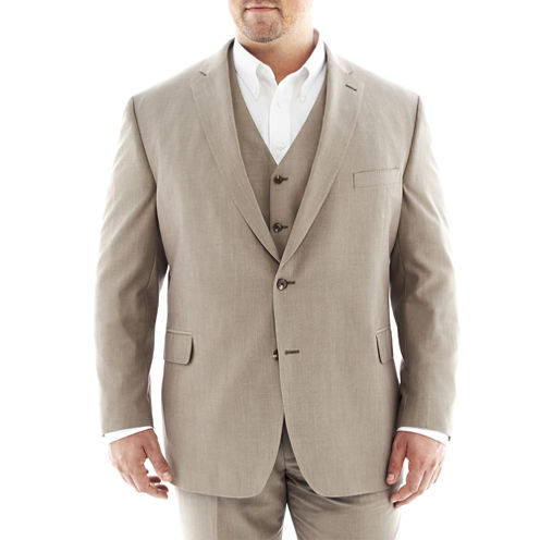 JF J. Ferrar® Tan Suit Jacket–Big & Tall