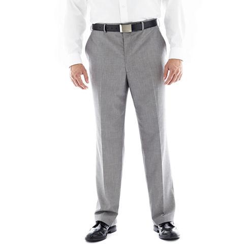 JF J. Ferrar® Gray Flat–Front Suit Pants–Big & Tall