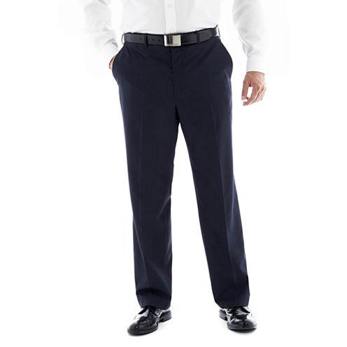JF J. Ferrar® Navy Flat–Front Suit Pants–Big & Tall