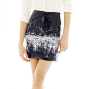 Joe Fresh™ Sequin Graphic Skirt