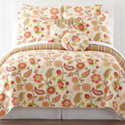 jcp home™ Tapestry Rose Quilt & Accessories