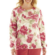 Alfred Dunner® Cedar Creek Floral Print Sweater - Plus