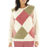 Alfred Dunner® Cedar Creek Chenille Diamonds Sweater - Plus