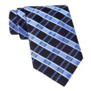 Stafford® Penney Grid Silk Tie