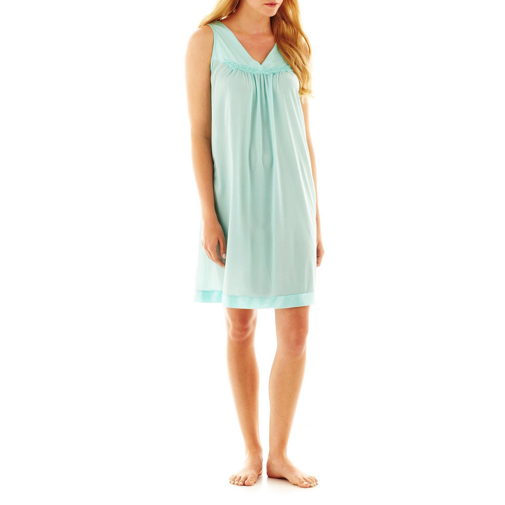 "Vanity Fair Coloratura"" Sleeveless Nightgown - 30107 - Plus plus size,  plus size fashion plus size appare"