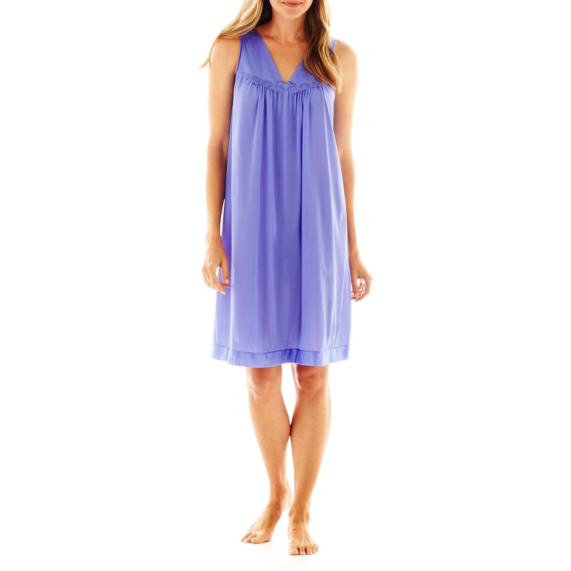 "Vanity Fair Coloratura"" Sleeveless Nightgown - 30107 - Plus plus size,  plus size fashion plus size appare"