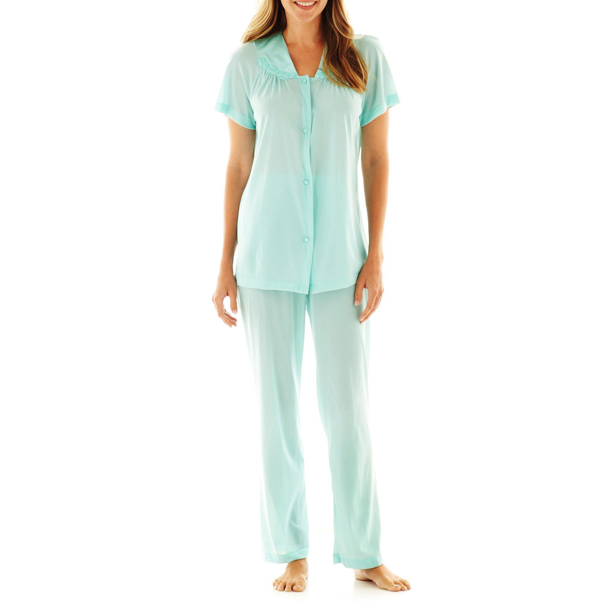 "Vanity Fair Coloratura"" Pajama Set - 90107 - Plus plus size,  plus size fashion plus size appare"