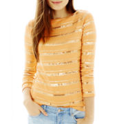Joe Fresh™ Sequin-Striped Shirt